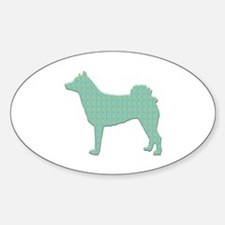Paisley Norrbottenspets Oval Decal