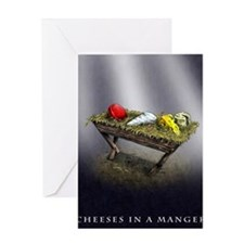 Cheeses in a Manger poster Greeting Card