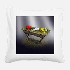Cheeses in a Manger poster Square Canvas Pillow