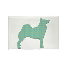 Paisley Buhund Rectangle Magnet