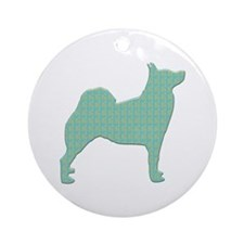 Paisley Buhund Ornament (Round)