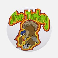 Jive Turkey Round Ornament