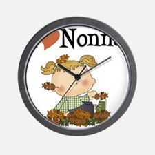 Autumn Girl I Love Nonna Wall Clock