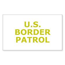 U.S. Border Patrol Rectangle Decal