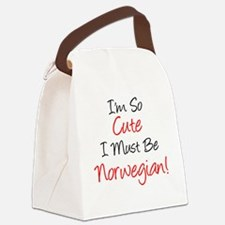 So Cute Must Be Norwegian Canvas Lunch Bag