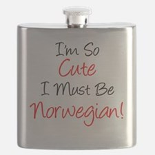 So Cute Must Be Norwegian Flask