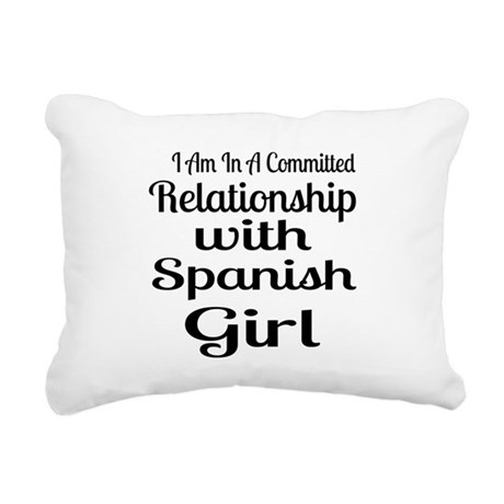 I Am In Relationship Wit Rectangular Canvas Pillow