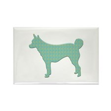 Paisley Lundehund Rectangle Magnet (100 pack)