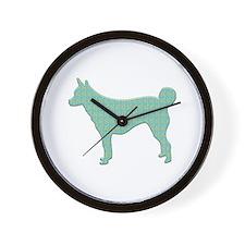 Paisley Lundehund Wall Clock