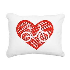Bicycle Heart Rectangular Canvas Pillow