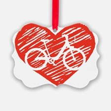 Bicycle Heart Ornament