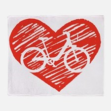 Bicycle Heart Throw Blanket