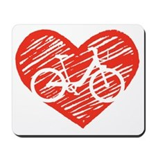 Bicycle Heart Mousepad