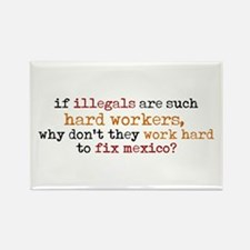 Work Hard for Mexico Rectangle Magnet