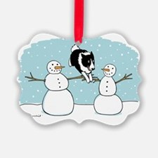 bordercolliewinterCP Ornament