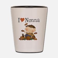 Autumn Boy I Love Nonna Shot Glass