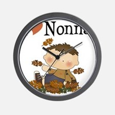 Autumn Boy I Love Nonna Wall Clock