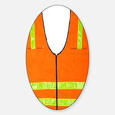 reflective vest safety halloween co Sticker (Oval)