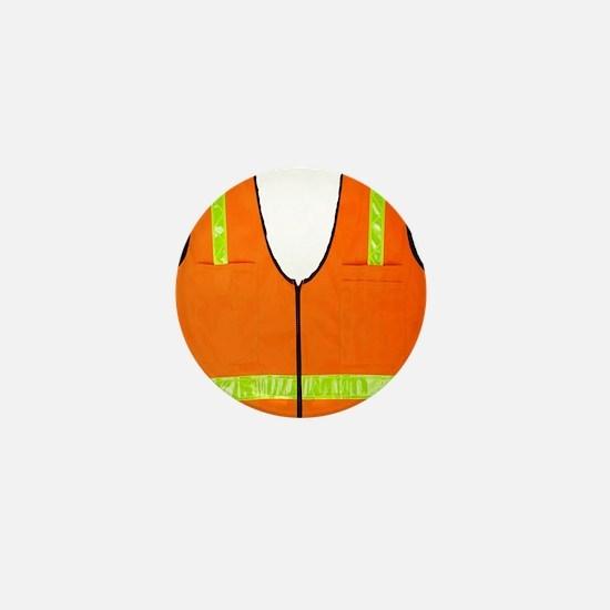 reflective vest safety halloween costu Mini Button