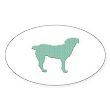 Paisley Entlebucher Oval Decal