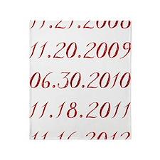 Dates Throw Blanket