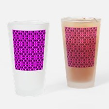Pink Groovy Shapes 23 Designer Drinking Glass