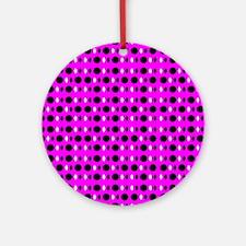 Pink Groovy Shapes 23 Designer Round Ornament
