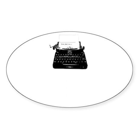 Original blog2-white Sticker (Oval)