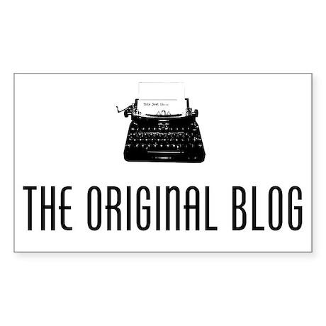 Original blog2 Sticker (Rectangle)