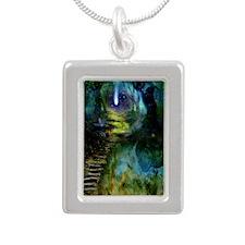 Mystical Entry Silver Portrait Necklace