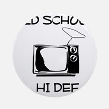 Old School HD Television Round Ornament