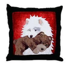 teddyred Throw Pillow
