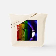 Rainbow Panel Tote Bag