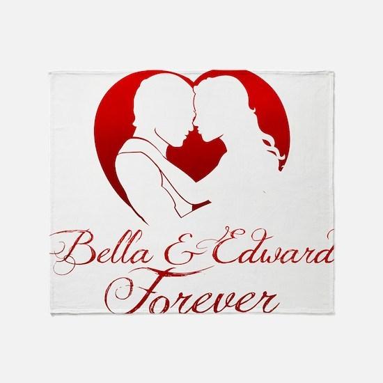 Bella  Edward Forever W/Heart Throw Blanket