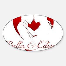 Bella  Edward Forever W/Heart Sticker (Oval)