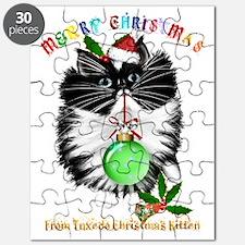 A Tuxedo Kitten Christmas Puzzle