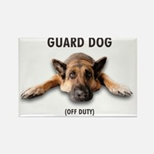 Guard Dog Rectangle Magnet