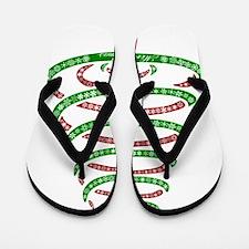 Christmas Tree Flip Flops