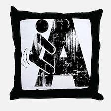 FNA_black_Distressed Throw Pillow