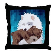 teddyblue2 Throw Pillow