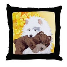 teddyyellow Throw Pillow
