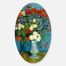 Van Gogh Vase with Cornflowers and  Decal