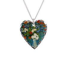 Van Gogh Vase with Cornflower Necklace