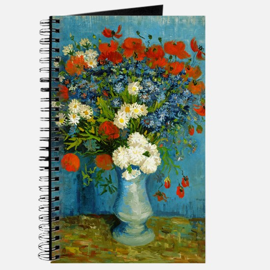 Van Gogh Vase with Cornflowers and Poppies Journal