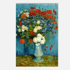 Van Gogh Vase with Cornfl Postcards (Package of 8)