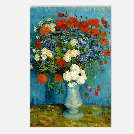 Van Gogh Vase with Cornfl Postcards (Package of 8)