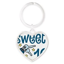 Sweet 16 Heart Keychain