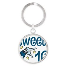 Sweet 16 Round Keychain