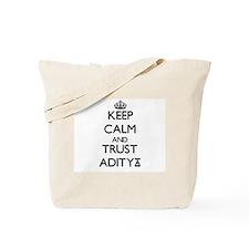 Keep Calm and TRUST Aditya Tote Bag