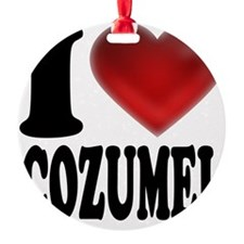 I Heart Cozumel Ornament